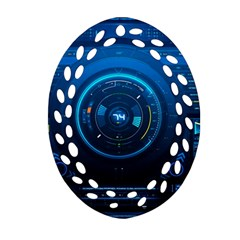 Technology Dashboard Oval Filigree Ornament (two Sides)