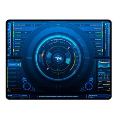 Technology Dashboard Double Sided Fleece Blanket (small)