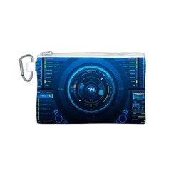 Technology Dashboard Canvas Cosmetic Bag (s)