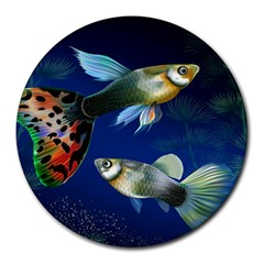 Marine Fishes Round Mousepads