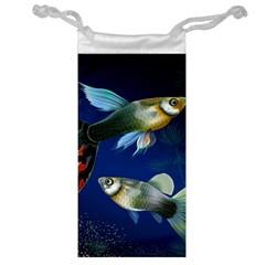 Marine Fishes Jewelry Bag