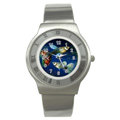 Marine Fishes Stainless Steel Watch