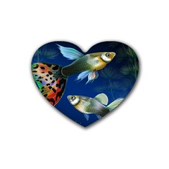 Marine Fishes Rubber Coaster (heart)