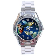 Marine Fishes Stainless Steel Analogue Watch