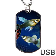 Marine Fishes Dog Tag Usb Flash (one Side)