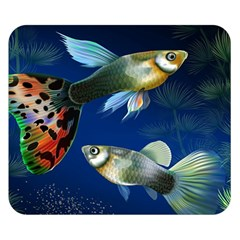 Marine Fishes Double Sided Flano Blanket (small)