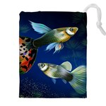 Marine Fishes Drawstring Pouches (XXL) Front
