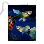 Marine Fishes Drawstring Pouches (XXL) Back