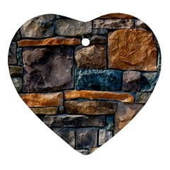 Brick Wall Pattern Ornament (heart)