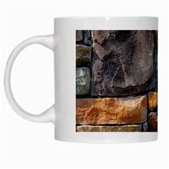 Brick Wall Pattern White Mugs