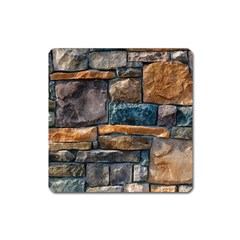 Brick Wall Pattern Square Magnet
