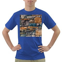 Brick Wall Pattern Dark T Shirt