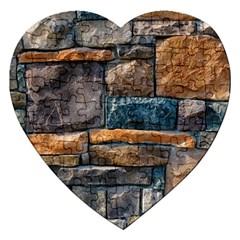 Brick Wall Pattern Jigsaw Puzzle (heart)