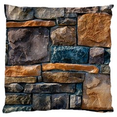 Brick Wall Pattern Large Cushion Case (two Sides)