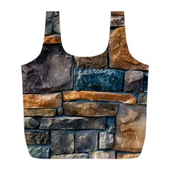 Brick Wall Pattern Full Print Recycle Bags (l)