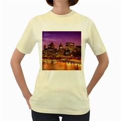 City Night Women s Yellow T Shirt
