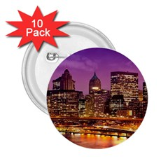 City Night 2 25  Buttons (10 Pack)
