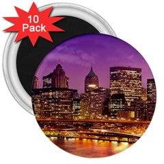 City Night 3  Magnets (10 Pack)