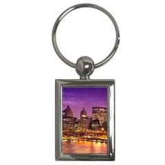 City Night Key Chains (rectangle)