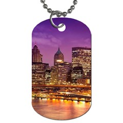 City Night Dog Tag (two Sides)