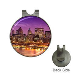 City Night Hat Clips With Golf Markers
