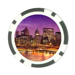 City Night Poker Chip Card Guard (10 Pack)