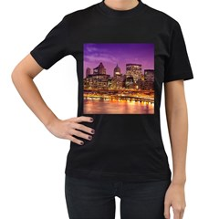 City Night Women s T Shirt (black)
