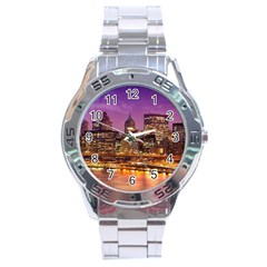 City Night Stainless Steel Analogue Watch