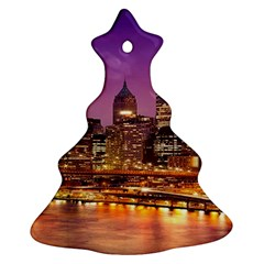 City Night Christmas Tree Ornament (two Sides)