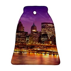 City Night Bell Ornament (two Sides)