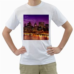 City Night Men s T Shirt (white)