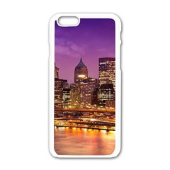 City Night Apple Iphone 6/6s White Enamel Case