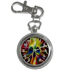Skulls Multicolor Fractalius Colors Colorful Key Chain Watches