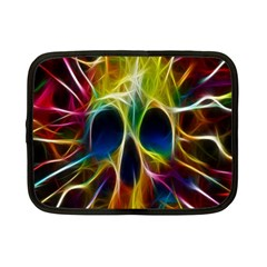 Skulls Multicolor Fractalius Colors Colorful Netbook Case (small)