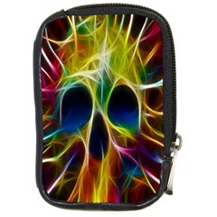 Skulls Multicolor Fractalius Colors Colorful Compact Camera Cases