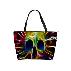 Skulls Multicolor Fractalius Colors Colorful Shoulder Handbags
