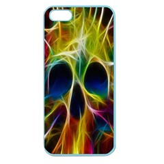 Skulls Multicolor Fractalius Colors Colorful Apple Seamless Iphone 5 Case (color)