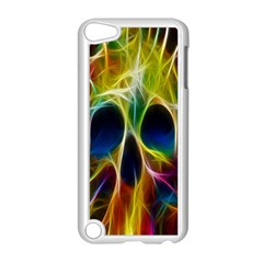 Skulls Multicolor Fractalius Colors Colorful Apple Ipod Touch 5 Case (white)