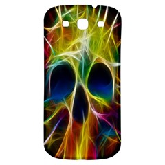 Skulls Multicolor Fractalius Colors Colorful Samsung Galaxy S3 S Iii Classic Hardshell Back Case