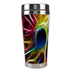 Skulls Multicolor Fractalius Colors Colorful Stainless Steel Travel Tumblers