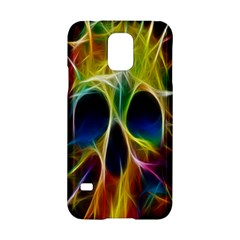 Skulls Multicolor Fractalius Colors Colorful Samsung Galaxy S5 Hardshell Case