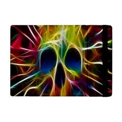 Skulls Multicolor Fractalius Colors Colorful Ipad Mini 2 Flip Cases