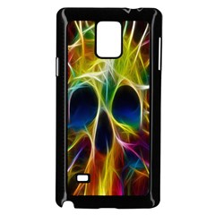 Skulls Multicolor Fractalius Colors Colorful Samsung Galaxy Note 4 Case (black)