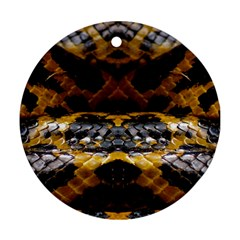 Textures Snake Skin Patterns Ornament (round)