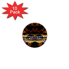 Textures Snake Skin Patterns 1  Mini Buttons (10 Pack)