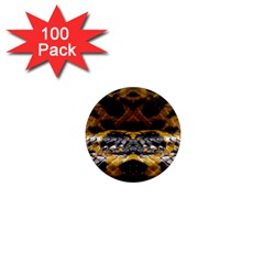Textures Snake Skin Patterns 1  Mini Magnets (100 Pack)