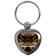 Textures Snake Skin Patterns Key Chains (heart)
