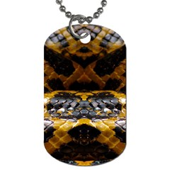 Textures Snake Skin Patterns Dog Tag (two Sides)