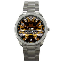 Textures Snake Skin Patterns Sport Metal Watch