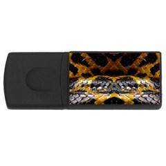 Textures Snake Skin Patterns Rectangular Usb Flash Drive